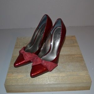 JESSICA SIMPSON RUBY RED HEELS